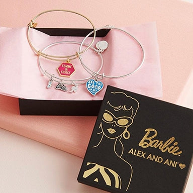 Three Barbie ALEX AND ANI bracelets