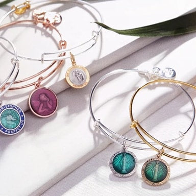 Various ALEX AND ANI Divine Guides bracelets