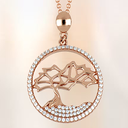 Rose Gold Divi Tree Pendant