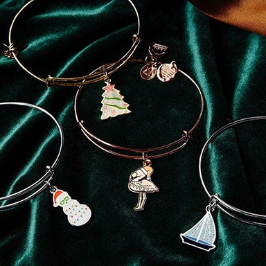 Holiday themed ALEX AND ANI bracelets