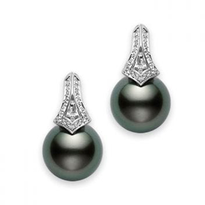 Mikimoto Black Pearl Earrings