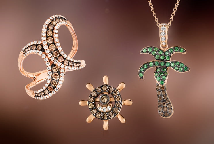 Le Vian chocolate diamond rings and necklaces