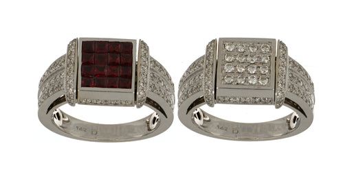 Ruby Ladies Ring (Ruby 0.9 cts. White Diamond 0.7 cts.)