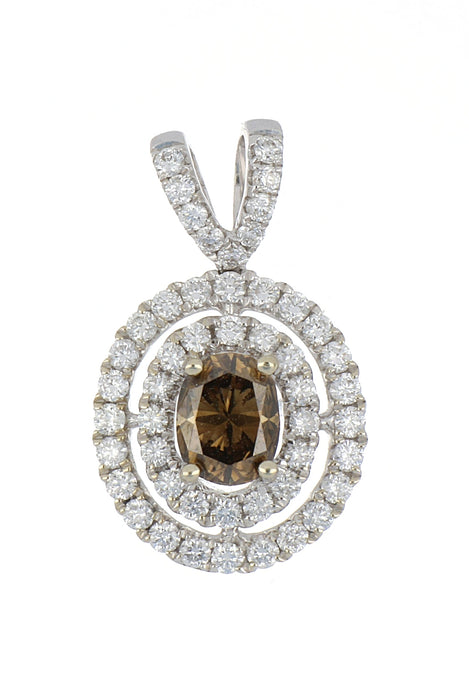 Brown Diamond Ladies Pendant (Brown Diamond 0.85 cts. White Diamond 0.52 cts.)