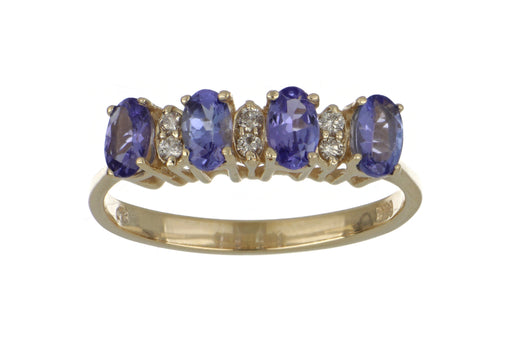 Tanzanite Ladies Ring (Tanzanite 0.96 cts. White Diamond 0.09 cts.)
