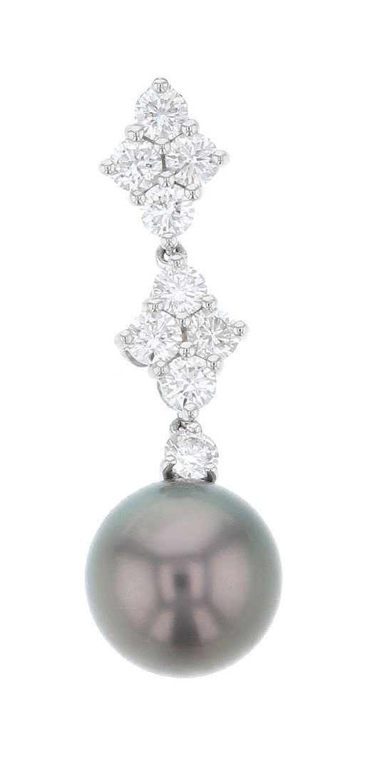 Black Pearl Ladies Pendant (White Diamond 0.73)