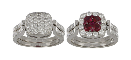 Ruby Ladies Ring (Ruby 0.9 cts. White Diamond 1.26 cts.)