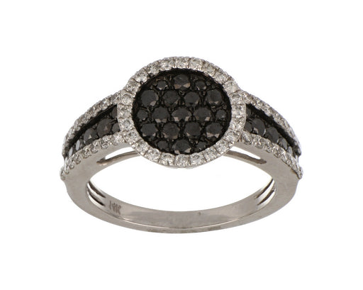 Black Diamond Ladies Ring (Black Diamond 0.79 cts. White Diamond 0.48 cts.)