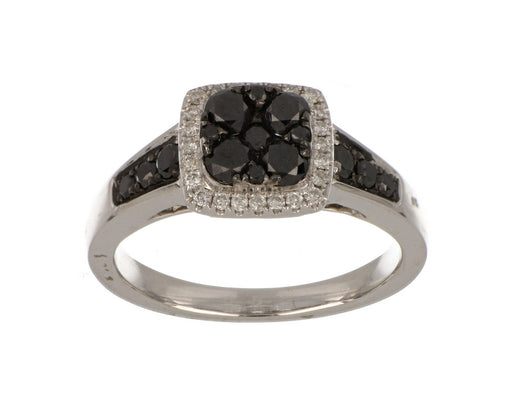 Black Diamond Ladies Ring (Black Diamond 0.81 cts. White Diamond 0.13 cts.)