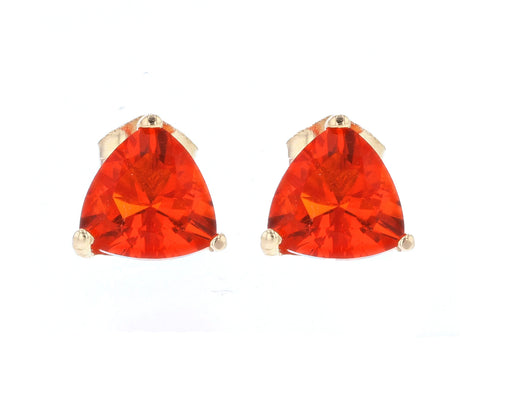 Fire Opal Ladies Earrings (Fire Opal 1 ct.)
