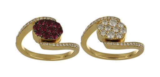 Ruby Ladies Ring (Ruby 0.81 cts. White Diamond 0.92 cts.)