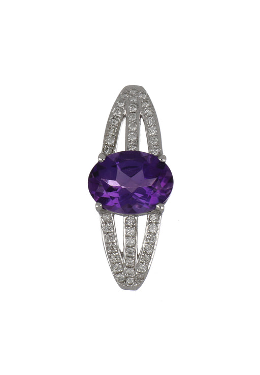 Amethyst Ladies Pendant (Amethyst 1.03 cts. White Diamond 0.12 cts.)