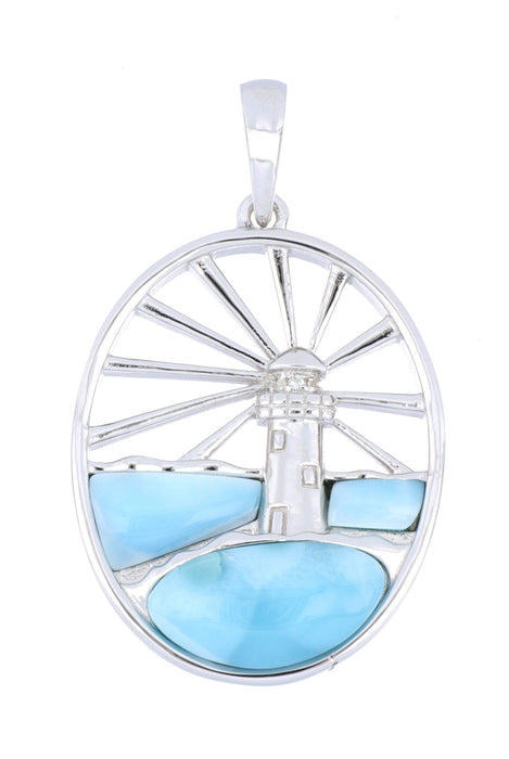Larimar Lighthouse Ladies Pendant