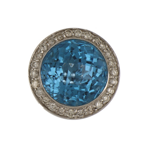Blue Topaz Ladies Pendant (Blue Topaz 11.11 cts. White Diamond 0.54 cts.)