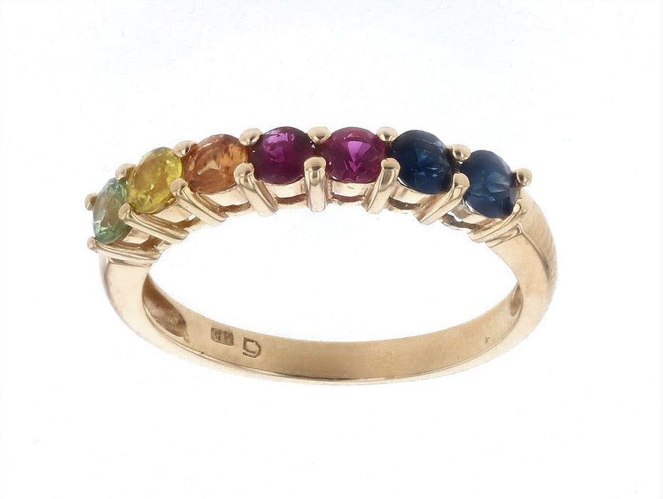 Multi-Color Sapphire Ladies Ring (Multi-Color Sapphire 0.96 cts.)