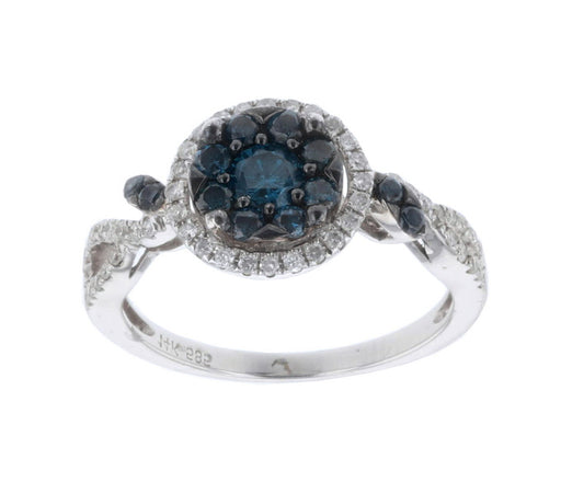 Blue Diamond Ladies Ring (Blue Diamond 0.6 cts. White Diamond 0.27 cts.)
