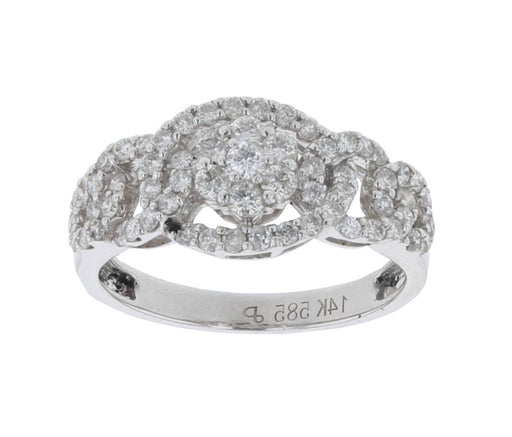 White Diamond Ladies Ring (White Diamond 0.84 cts.)