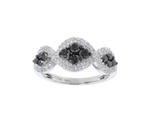 Black Diamond Ladies Ring (Black Diamond 0.63 cts. White Diamond 0.55 cts.)