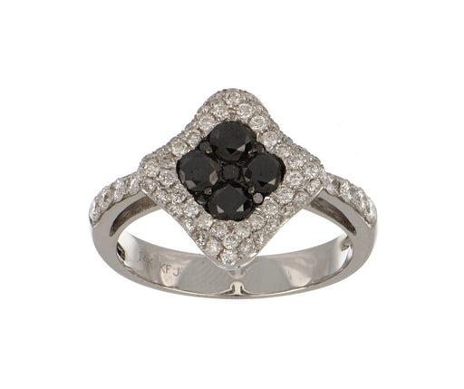 Black Diamond Ladies Ring (Black Diamond 0.65 cts. White Diamond 0.6 cts.)