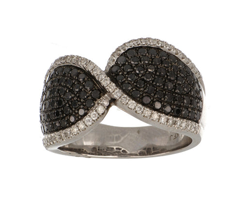Black Diamond Ladies Ring (Black Diamond 1.04 cts. White Diamond 0.32 cts.)