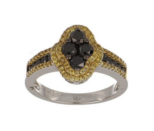Black Diamond Ladies Ring (Black Diamond 0.93 cts. Yellow Diamond 0.48 cts.)