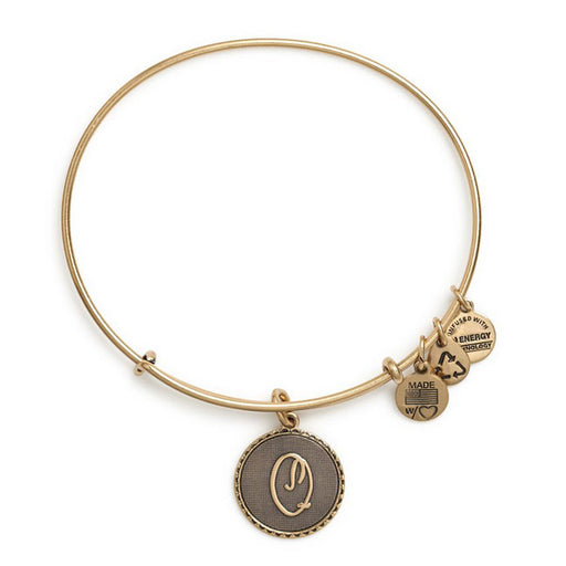 ALEX AND ANI Initial Q Charm Bangle