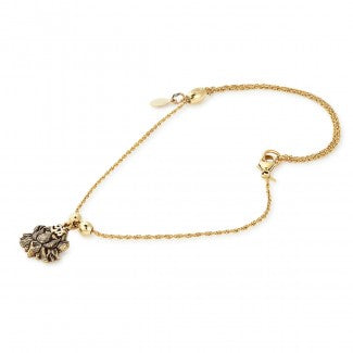 ALEX AND ANI Lotus Peace Petals Anklet