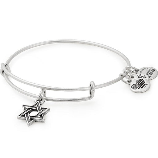 ALEX AND ANI Star of David Charm Bangle