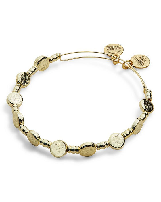 ALEX AND ANI Coin Metal Beaded Bangle
