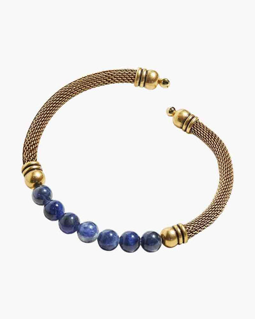 ALEX AND ANI Sodalite Gemstone Mesh Cuff