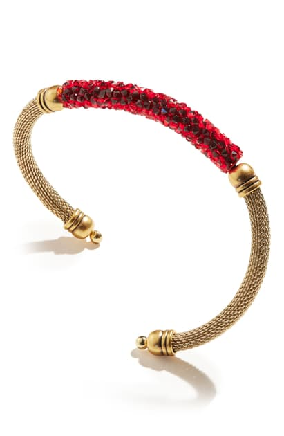 ALEX AND ANI Magma Fine Rocks Mesh Cuff