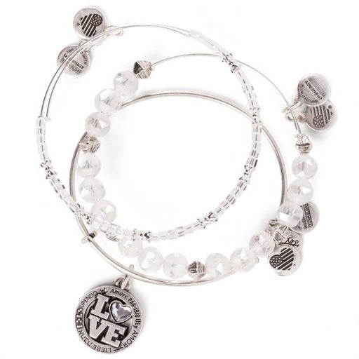 ALEX AND ANI Love Language Charm Bangle Set