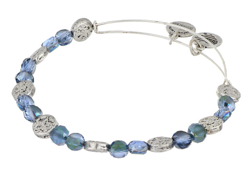 ALEX AND ANI Blue & Silver Coin Beaded Bangle