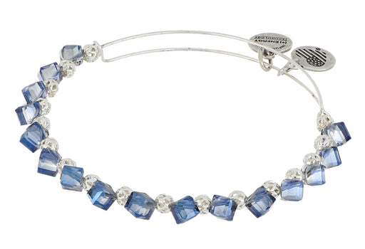 ALEX AND ANI Blue Block Silver Beaded Bangle
