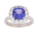Tanzanite Ladies Ring (Tanzanite 3.21 cts. White Diamond 1.32 cts.)