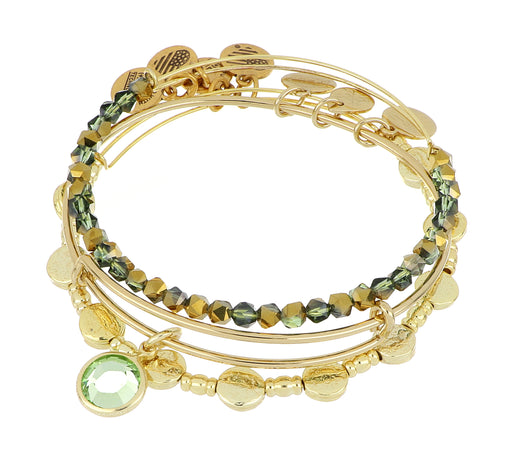 ALEX AND ANI August Birthstone Set - Gold