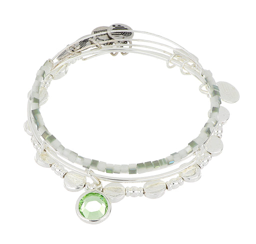 ALEX AND ANI August Birthstone Set - Silver