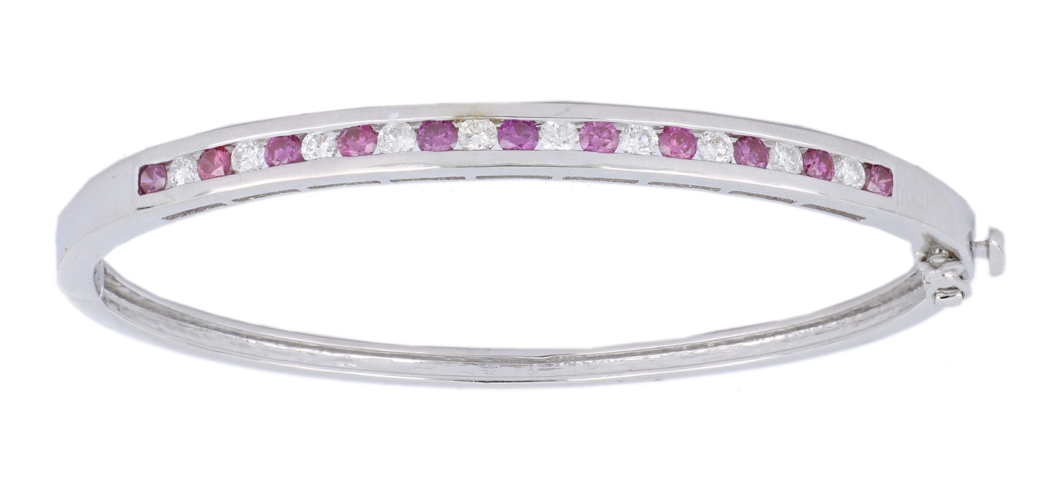 Purple Diamond Ladies Bangles (Purple Diamond 0.79 cts. White Diamond 0.68 cts.)