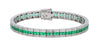 Emerald Ladies Bracelet (Emerald 4.98 cts. White Diamond 0.88 cts.)