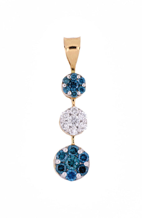 Blue Diamond Ladies Pendant (Blue Diamond 0.57 cts. White Diamond 0.21 cts.)