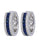 Blue Sapphire Ladies Earrings (Blue Sapphire 2.01 cts. White Diamond 0.35 cts.)