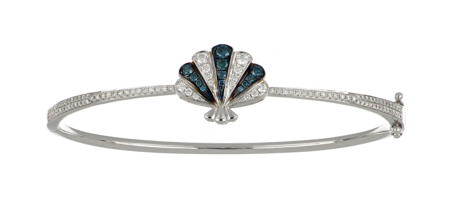 Blue Diamond Ladies Bangle (Blue Diamond 0.25 cts. White Diamond 0.63 cts.)