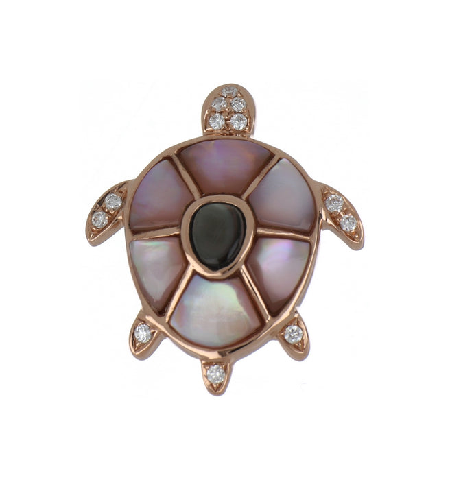 Mixed Mother of Pearl Ladies Pendant (Mother of Pearl 1.05 cts. White Diamond 0.07 cts.)