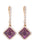 Purple Diamond Ladies Earrings (Purple Diamond 0.85 cts. White Diamond 0.35 cts. 2.37 grams.)