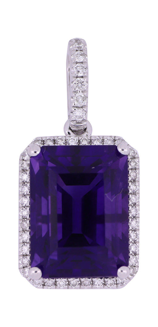 Amethyst Ladies Pendant (Amethyst 5.03 cts. White Diamond 0.2 cts.)