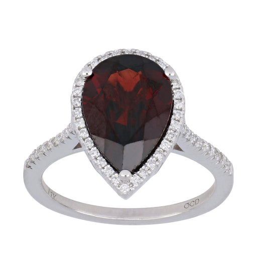 Garnet Ladies Ring (Garnet 4.64 cts. White Diamond 0.26 cts.)
