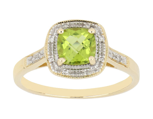 Peridot Ladies Ring (Peridot 0.98 cts. White Diamond 0.05 cts.)