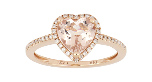 Morganite Ladies Ring (Morganite 1.51 cts. White Diamond 0.15 cts.)