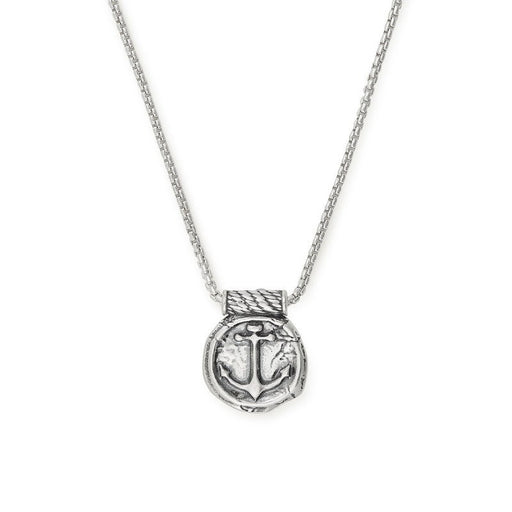 ALEX AND ANI Men's Anchor Necklace