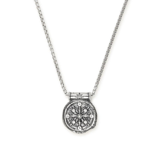 ALEX AND ANI Men's Compass Necklace